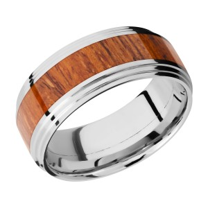Lashbrook CC9F2S14/HARDWOOD Cobalt Chrome Wedding Ring or Band