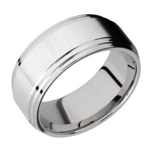 Lashbrook CC9F2S Cobalt Chrome Wedding Ring or Band