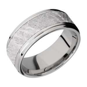 Lashbrook CC9FGE16/METEORITE Cobalt Chrome Wedding Ring or Band