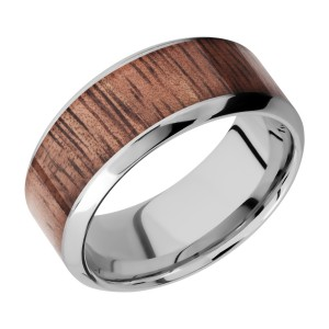 Lashbrook CC9HB16/HARDWOOD Cobalt Chrome Wedding Ring or Band