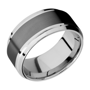 Lashbrook CCPF10B16(S)/ZIRCONIUM Cobalt Chrome Wedding Ring or Band