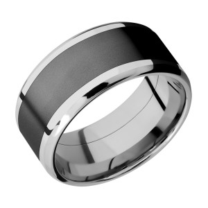 Lashbrook CCPF10B17(NS)/ZIRCONIUM Cobalt Chrome Wedding Ring or Band