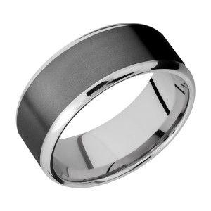 Lashbrook CCPF10B18(NS)/ZIRCONIUM Cobalt Chrome Wedding Ring or Band