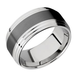 Lashbrook CCPF10F2S15/ZIRCONIUM Cobalt Chrome Wedding Ring or Band