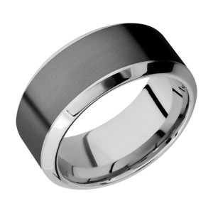 Lashbrook CCPF10HB17/ZIRCONIUM Cobalt Chrome Wedding Ring or Band