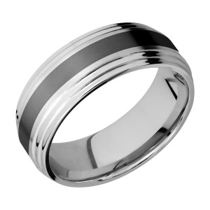 Lashbrook CCPF3F2S13/ZIRCONIUM Cobalt Chrome Wedding Ring or Band