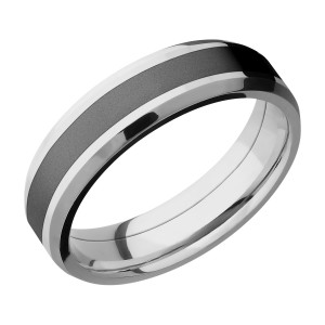 Lashbrook CCPF6B13(NS)/ZIRCONIUM Cobalt Chrome Wedding Ring or Band