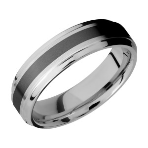 Lashbrook CCPF6B13(S)/ZIRCONIUM Cobalt Chrome Wedding Ring or Band