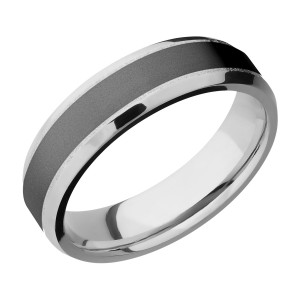 Lashbrook CCPF6B14(NS)/ZIRCONIUM Cobalt Chrome Wedding Ring or Band