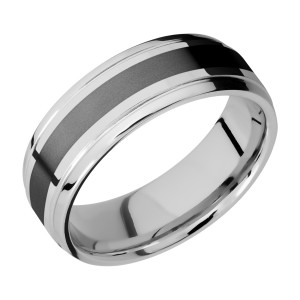 Lashbrook CCPF7B13(S)/ZIRCONIUM Cobalt Chrome Wedding Ring or Band