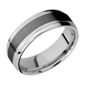 Lashbrook CCPF7B14(S)/ZIRCONIUM Cobalt Chrome Wedding Ring or Band