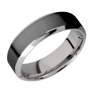 Lashbrook CCPF7HB14/ZIRCONIUM Cobalt Chrome Wedding Ring or Band