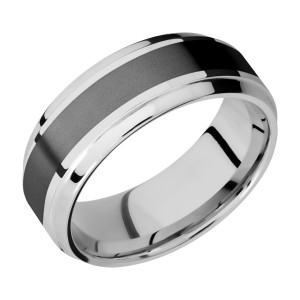 Lashbrook CCPF8B14(S)/ZIRCONIUM Cobalt Chrome Wedding Ring or Band