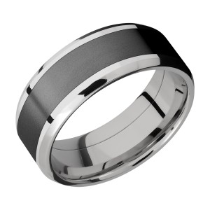 Lashbrook CCPF8B15(NS)/ZIRCONIUM Cobalt Chrome Wedding Ring or Band