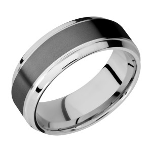 Lashbrook CCPF8B15(S)/ZIRCONIUM Cobalt Chrome Wedding Ring or Band