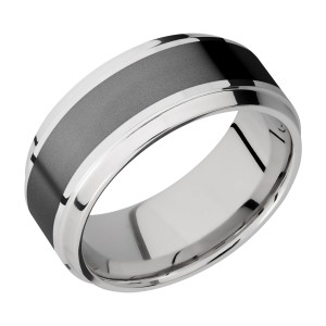 Lashbrook CCPF9B15(S)/ZIRCONIUM Cobalt Chrome Wedding Ring or Band