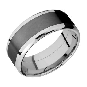 Lashbrook CCPF9B16(NS)/ZIRCONIUM Cobalt Chrome Wedding Ring or Band