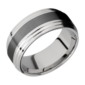 Lashbrook CCPF9F2S14/ZIRCONIUM Cobalt Chrome Wedding Ring or Band