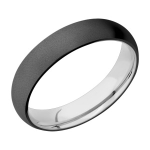 Lashbrook CCSLEEVEZ5D Zirconium and Cobalt Chrome Wedding Ring or Band