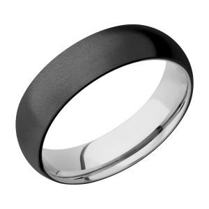 Lashbrook CCSLEEVEZ6D Zirconium and Cobalt Chrome Wedding Ring or Band
