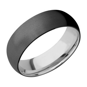 Lashbrook CCSLEEVEZ7D Zirconium and Cobalt Chrome Wedding Ring or Band