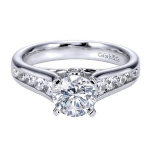 Gabriel 14 Karat Contemporary Engagement Ring ER8189W44JJ