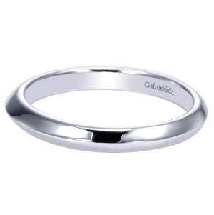 Gabriel 14 Karat Contemporary Wedding Band WB8685W4JJJ