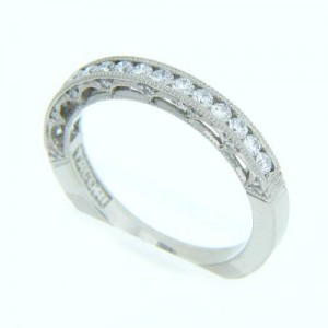 Tacori Platinum Crescent Silhouette Wedding Band HT2510B12X