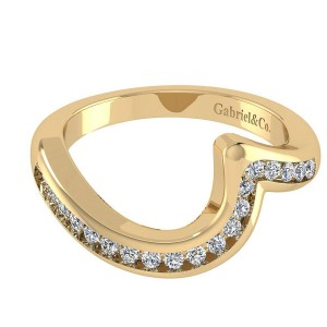 Gabriel 14 Karat Contemporary Wedding Band WB4309Y44JJ