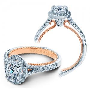 Verragio Couture-0424OV-TT Platinum Engagement Ring