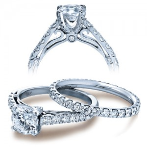 Verragio Platinum Couture Engagement Ring Couture-0388 D