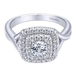 Gabriel 14 Karat Contemporary Engagement Ring ER910090W44JJ