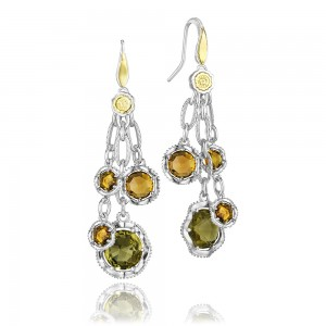 SE136Y Tacori 18k925 Silver & Gold Earrings