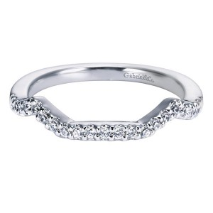 Gabriel 14 Karat Contemporary Wedding Band WB5795W44JJ