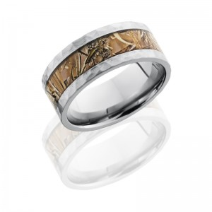 Lashbrook 9F15/KINGSFIELD - HAMMER Titanium Wedding Ring or Band
