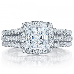 HT2551PR65 Platinum Tacori Petite Crescent Engagement Ring