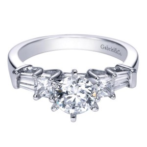 Gabriel 14 Karat Contemporary Engagement Ring ER3693W44JJ