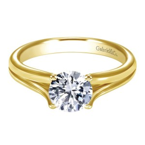 Gabriel 14 Karat Contemporary Engagement Ring ER7516Y4JJJ