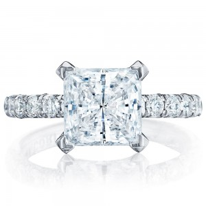 HT254525PR8 Platinum Tacori Petite Crescent Engagement Ring
