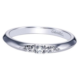 Gabriel 14 Karat Contemporary Wedding Band WB8543W44JJ