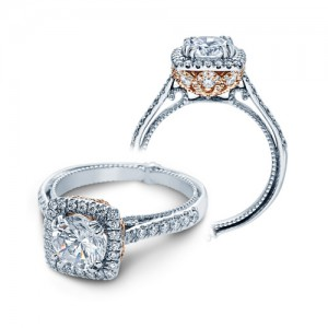 Verragio Couture-0433DCU-TT Platinum Engagement Ring