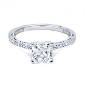 Simply Tacori Platinum Diamond Solitaire Engagement Ring 50PRP6