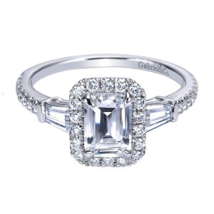 Gabriel 14 Karat Contemporary Engagement Ring ER7268W44JJ