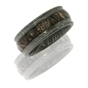 Lashbrook D9RED14/KINGSWOODLAND POLISH Camo Wedding Ring or Band