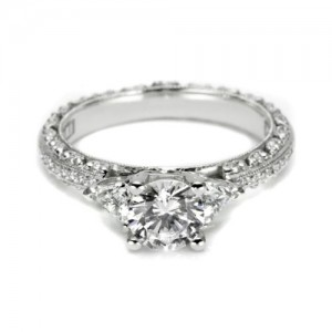 Tacori Crescent Platinum Engagement Ring HT2367P