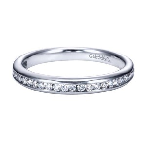 Gabriel 14 Karat Contemporary Wedding Band WB7476W44JJ