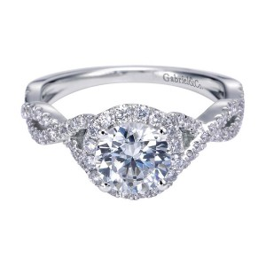 Gabriel 14 Karat Contemporary Engagement Ring ER7543W44JJ