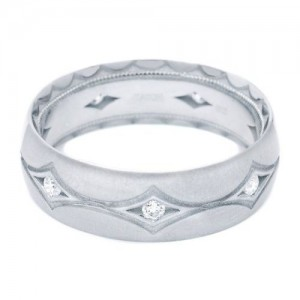 Tacori 1007WDS Platinum Crescent Wedding Band