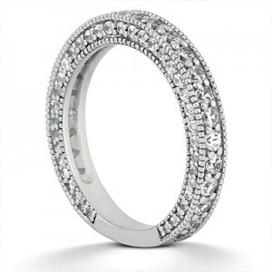Taryn Collection Platinum Wedding Ring TQD B-5521