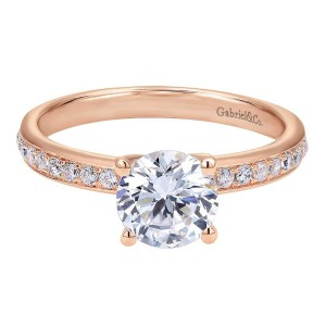 Gabriel 14 Karat Contemporary Engagement Ring ER7537K44JJ